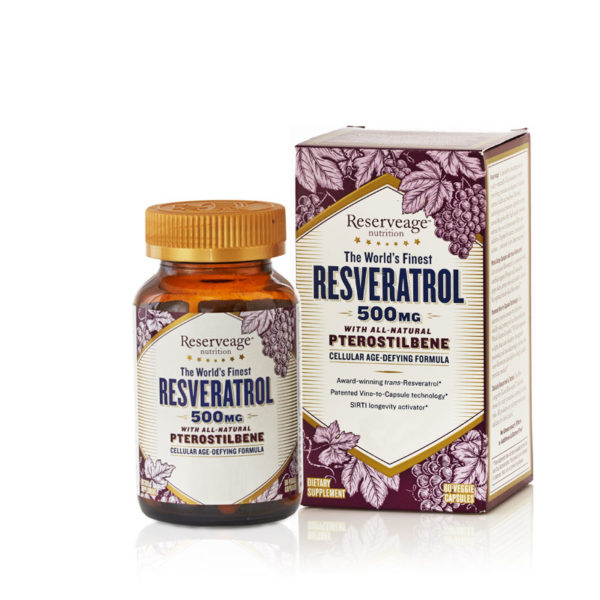 Reserveage Resveratrol W Pterostilbene 500mg 60 Capsules Bio